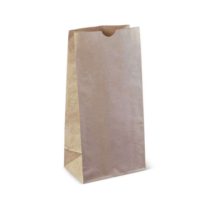 Brown Paper 8 SOS Small Take Away Bag